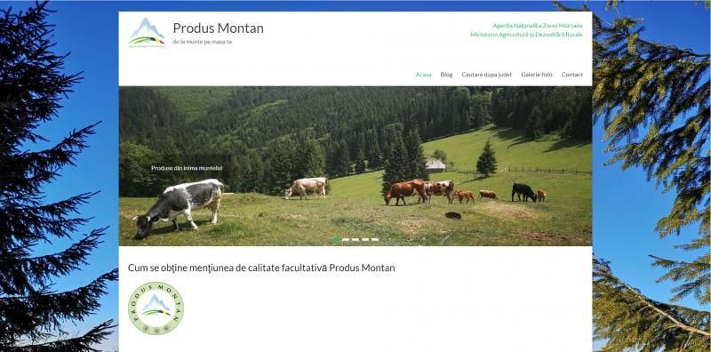 """A fost lansată platforma on-line dedicată producătorilor cu dreptul de utilizare a mențiunii de calitate facultative """"produs montan""""!"""