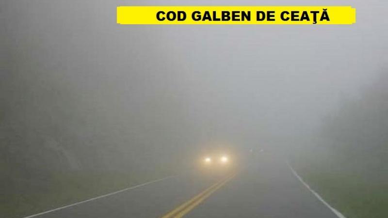 Meteo – Avertizare COD GALBEN de ceață pentru mai multe localități din județul Alba
