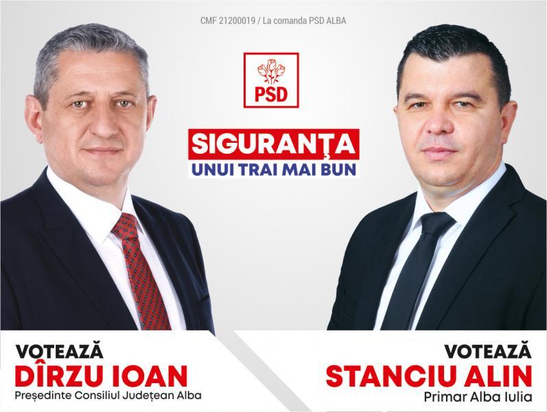 La Alba Iulia, votați Alin Stanciu și echipa PSD! Votați pentru o administrație corectă și eficientă!