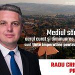 """Radu Cristian:""""Mediul sănătos, aerul curat și diminuarea poluării sunt ținte imperative pentru Sebeș!"""""""