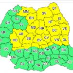 ANM a prelungit avertizarea COD GALBEN de  instabilitate atmosferică temporar accentuată pentru județul Alba