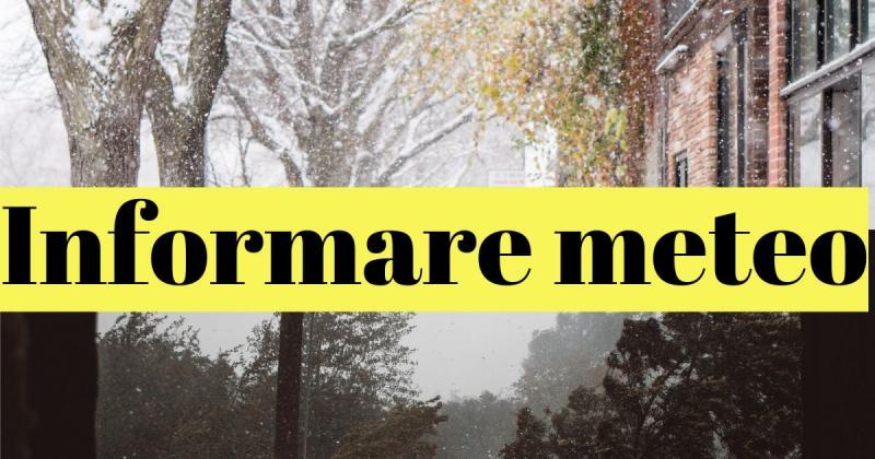 ALERTĂ METEO – Urmează două zile de ploi, ninsori şi vânt puternic în cea mai mare parte a țării!