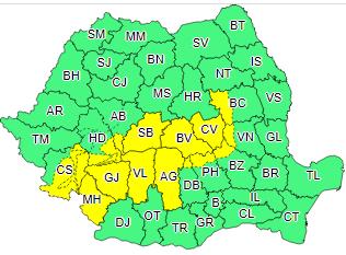 ANM – Atenționare meteorologică COD GALBEN de ninsori pentru sudul județului Alba!