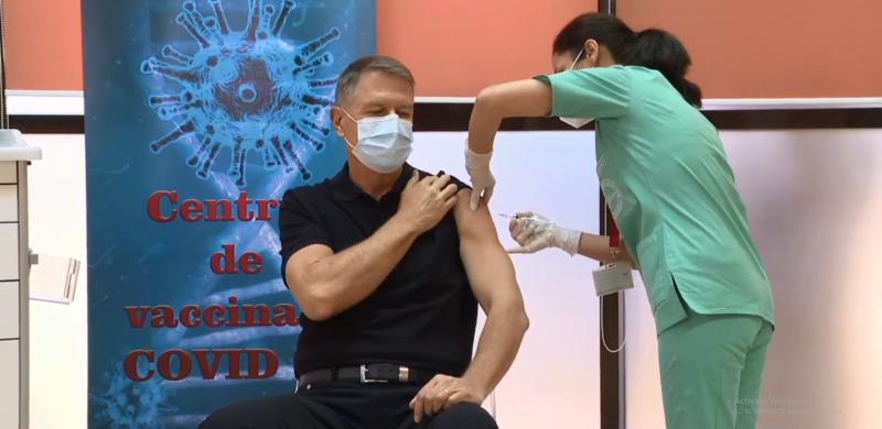 Președintele Klaus Iohannis s-a vaccinat împotriva COVID-19!
