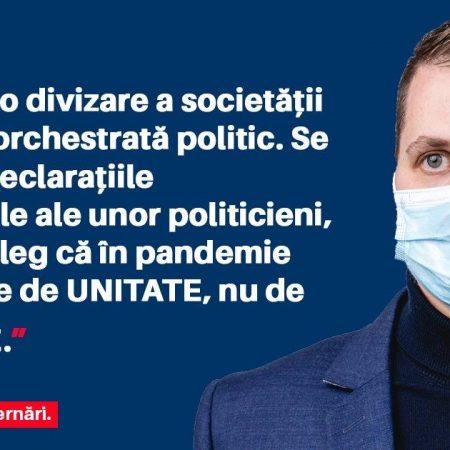 Beniamin Todosiu (USR PLUS): Clasa politică trebuie să înțeleagă faptul că în pandemie avem nevoie de UNITATE, nu de DEZBINARE.