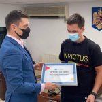 Ultramaratonistul Polgar Levente, premiat de ministrul Tineretului și Sportului
