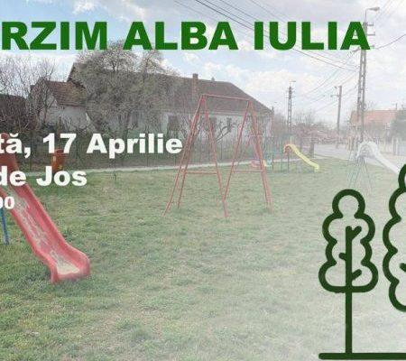 PSD Alba organizează sâmbătă o acțiune de plantare de puieți și recondiționare a parcului din cartierul Oarda