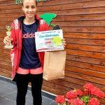 Tenismena Giulia Pienariu din Sebeș a urcat pe podiumul Cupei Electromax Petroșani