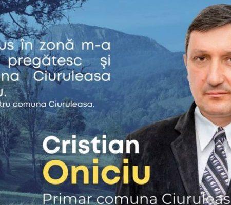Experienţă liberală în administraţia locală la Ciuruleasa. Cristian Oniciu – startul spre mai bine (P)