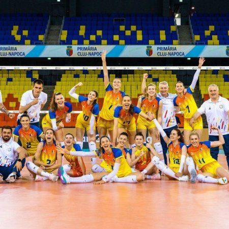 Naționala de volei feminin a României și trofeul Campionatului European vin la Blaj