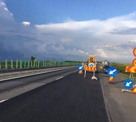 Atenție șoferi! Breteaua de coborâre din A1 spre DN1 – Veștem va fi închisă total azi până la ora 17!