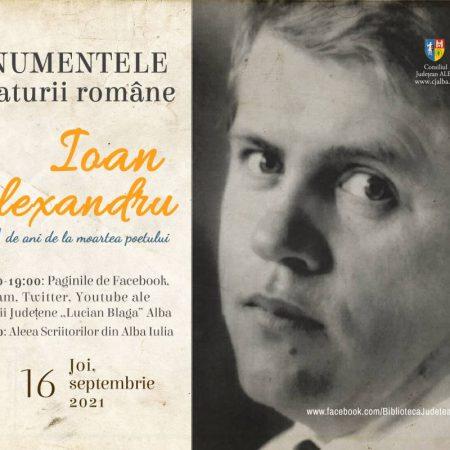 """Scriitorul Ioan Alexandru, comemorat de Biblioteca Județeană """"Lucian Blaga"""" Alba"""