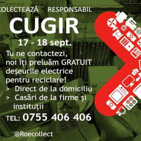 Campanie de colectare deșeuri de echipamente electrice și electronice la Cugir