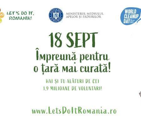 """Alba curată! """"Let's Do It, România!"""" – Ziua de Curățenie Națională! 18 septembrie"""